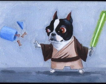 Boston Terrier Jedi magnet