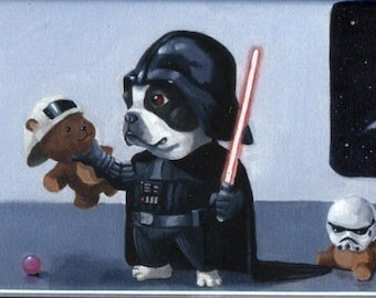 Darth Terrier - Boston Terrier Magnet
