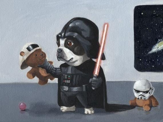 The Ultimate Boston Terrier Star Wars Dog Art Print Set