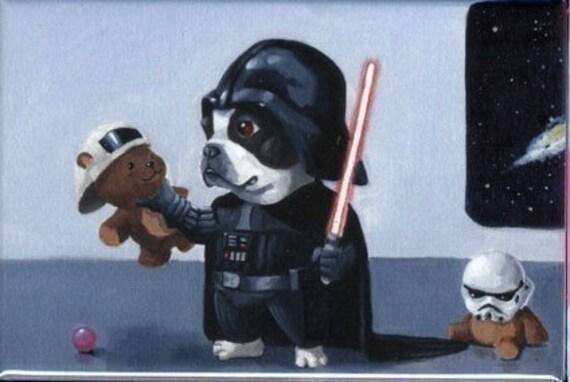 Darth Terrier - Boston Terrier Magnet