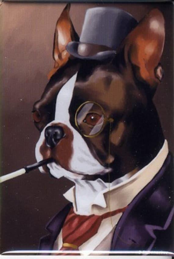 Boston terrier American Gentleman magnet