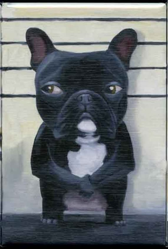 french bulldog  line up dog art magnet