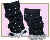 polka dot lacy legginz