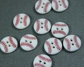Baseball Sports 2-Holed Novelty Buttons