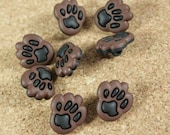 Paw Novelty Buttons