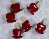 Red Candy Apple Novelty Buttons