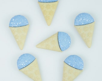 Blue Snow Cone Novelty Flatback Accents