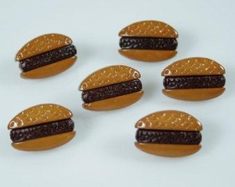 Hamburger Novelty Buttons