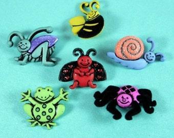 Garden Critters Novelty Buttons