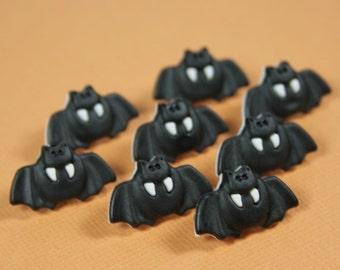 Halloween Black Bat Novelty Buttons