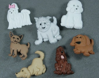 Assorted Puppy Parade Novelty Buttons
