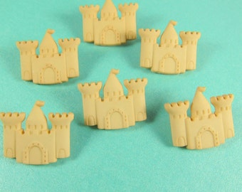 Beach Sand Castle Novelty Buttons