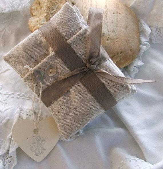 French Linen Organic Lavender Sachets - Pillows set of Three