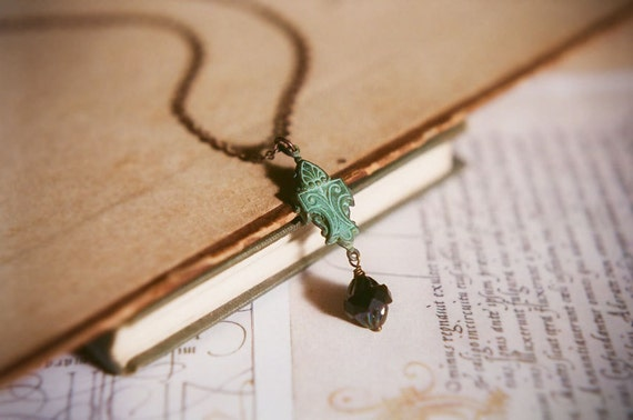 The Dark Cathedral - Gothic romance necklace