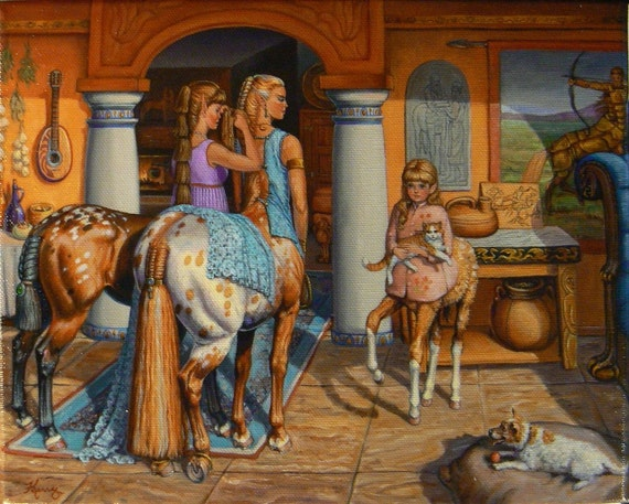 Centaurs 16x20 canvas giclee limited ed. print