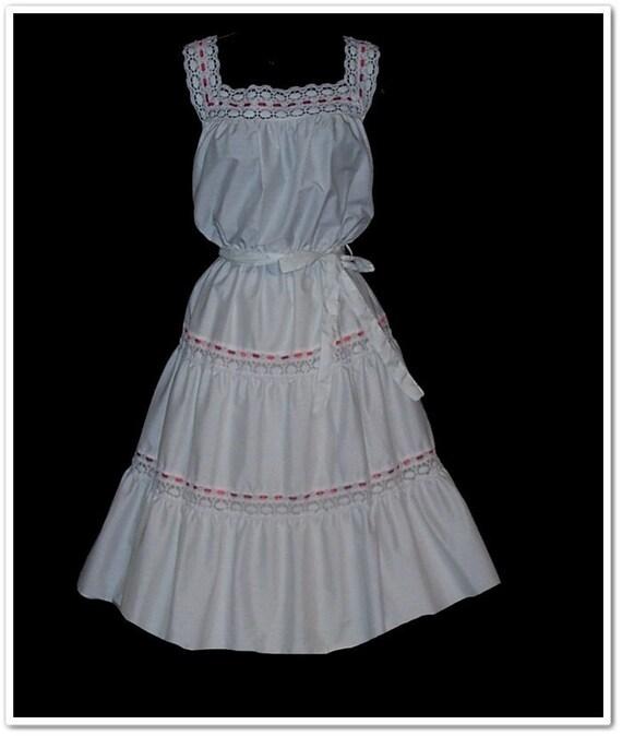 NOS Vintage 70s 80s Sun Dress M L