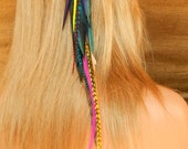 Black Orchid Feather Hair Extension- Alligator Clip- Ready to Ship