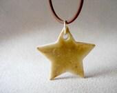 Super Star Porcelain Pendant Necklace