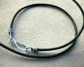 Leather Cord with Sterling Clasp