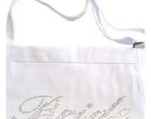 Rhinestone Bride Apron - Casual Bride Font