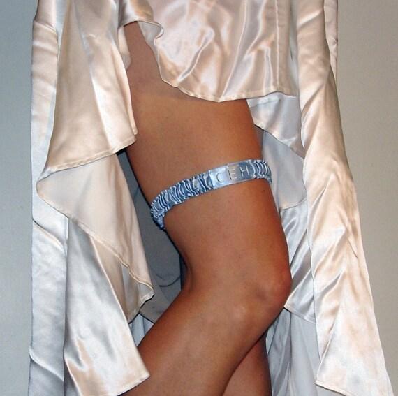 Sleek City Charlotte Embroidered Wedding Garter