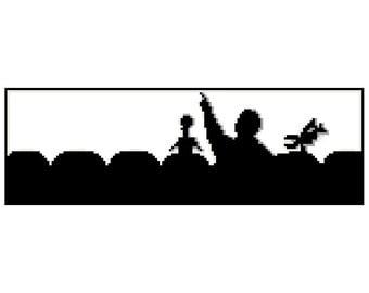 MST3K Silhouette PDF Cross Stitch Pattern
