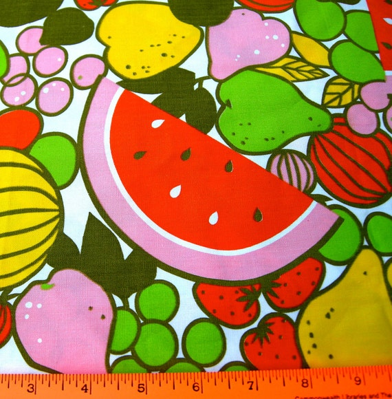 Vintage Fruits Fabric  - 1 Yard