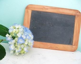 Old School... Vintage Double Sided Slate Chalkboard Blackboard Made in Portugal
