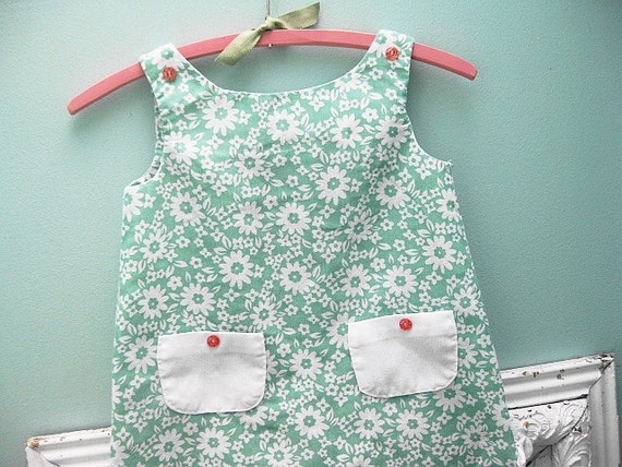 Handmade with Love... Vintage Handmade Pinafore Jumper Little Girl Dress and/or Shirt