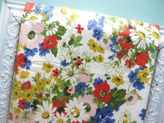 Among The Wildflowers... Vintage Floral Fabric YARDAGE 2.5 Yards Plus