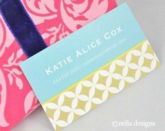 Geometric Business Cards, Calling Cards, Mom Calling Cards, Kids Calling Cards