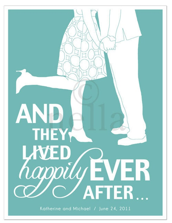 Happily Ever After Couple's Print