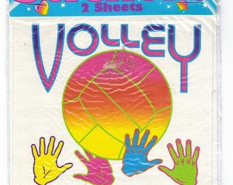 RARE Vintage Lisa Frank Jumbo Volley Ball Stickers New Sealed Package