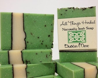 Dublin Mint Irish Soap - gift for the lover of all things Irish, All Natural Soap, Refreshing Mint, holiday stocking stuffer