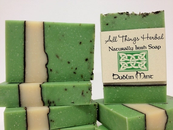 Dublin Mint Irish Soap - gift for the lover of all things Irish, All Natural Soap, Refreshing Mint