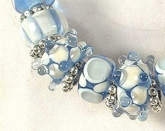 ICE BEAUTIES Lampwork Bead Originals by Lynn  SRA nb1778