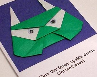Origami Troll Card- Get Well Soon