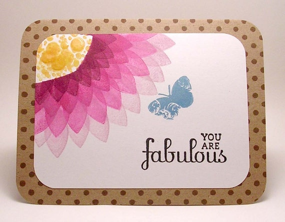 Floral You are Fabulous card