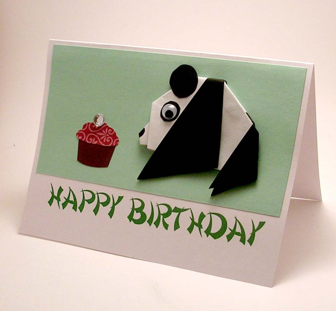 Origami Panda Birthday Card