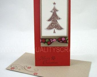 Chocolate Christmas Tree Merry Christmas Greeting Card