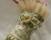 Repurposed Victorian Wrist Cuffs