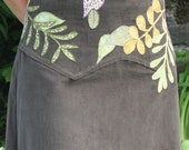 Olive and Vines Hippie Skirt with Waist Applique Adjustable Sizing