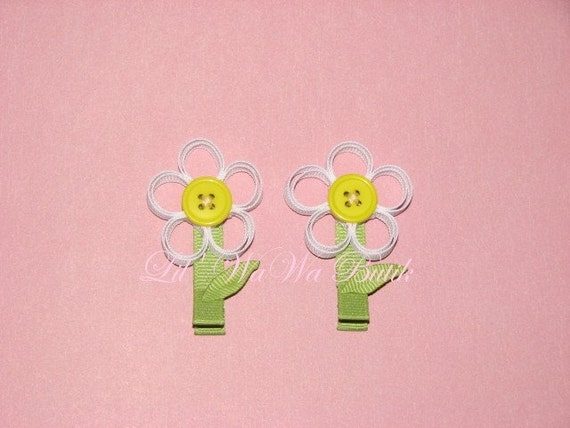 M2MG Boutique Custom Spring Rainbow Daisy Flower Hair Clip - You Pick Colors