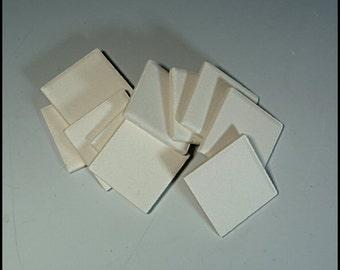 Inchies Jewelry Blanks Square Ceramic Bisque 10 pc