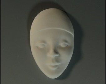Ceramic Bisque Face Mask 5 Blanks for Jewelry Pin Brooch Extra Small
