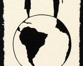Graduation Gift // Sale 20% Off // WORLD TOUR Papercut - Hand-Cut Silhouette // Coupon Code SALE20