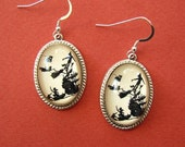 Sale 20% Off // PETER PAN Earrings - Silhouette Jewelry // // Coupon Code SALE20