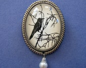 Sale 20% Off // FOR the LOVE of CROWS #1 Brooch - Silhouette Jewelry // Coupon Code SALE20