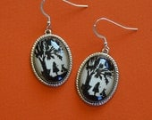 Sale 20% Off // ALICE IN WONDERLAND Earrings - Silhouette Jewelry // Coupon Code SALE20