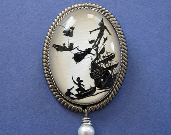 Sale 20% Off // PETER PAN Brooch - Silhouette Jewelry // Coupon Code SALE20